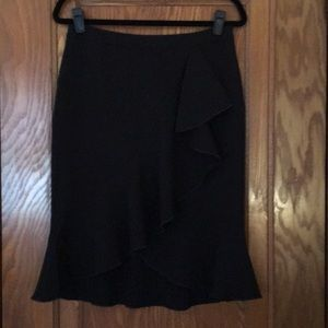 Ann Taylor pencil ruffle skirt